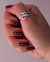 Nail art red and black 17 by Cha-23h30
