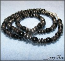 Masculine Industrial Necklace by 1337-Art