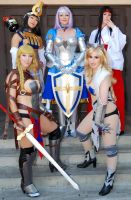 Annelotte - Queen's Blade - Our Fanime 2013 group! by Kapalaka
