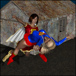 Remastered: Supergirl Vs Mary Marvel by LordSnot