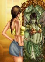 Fairy in the mirror Colored by alexasrosa