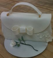 White Purse Cake by Qess