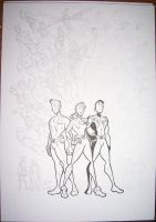 Legion of Superheroes WIP 2 by BevisMusson
