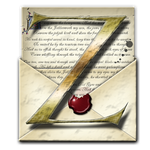 Steampunk Z Open Envelope Icon by yereverluvinuncleber