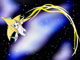 7000 Pageview Art - Jirachi by TheDragonsCove