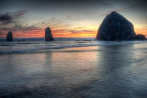 Haystack Rock V2 by adamsimsphotography