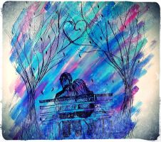 Park bench by andro0meda