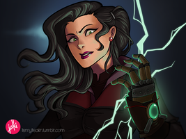 Asami and her glove by HeyitsJaKi