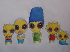 the simpsons go powerpuff by chestnuthare