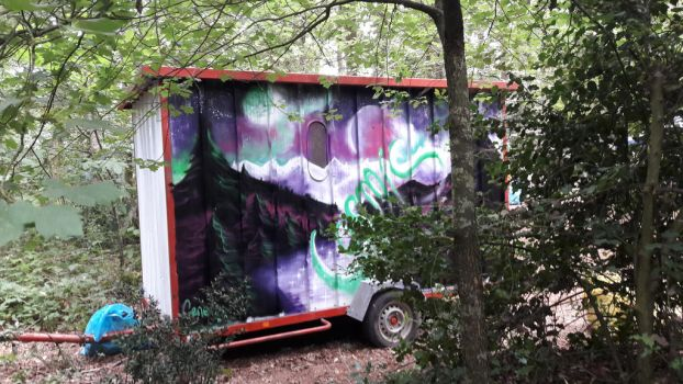 Cosmic Painting in the woods by Neric44