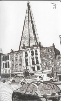 The Shard From Borough High Street by garyjwood