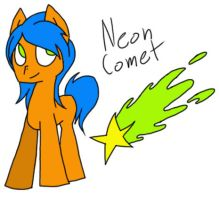 Neon Comet Adopt [OPEN] by StarrySparky