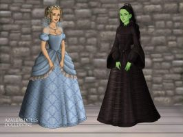 Wicked's Galinda and Elphaba by WhisperingWindxx