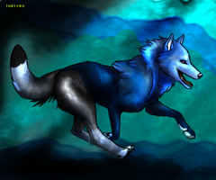Wolf design for Adiemus by TheTyro