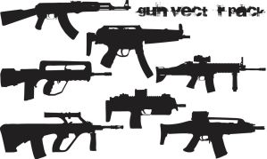 Gun Vector Pack by Thegoldenmane