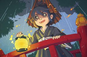 Yokai: Little Rainfall Boy by amasugiru