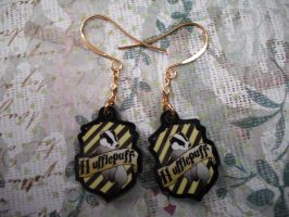 Hufflepuff Earrings by AriesNamarie