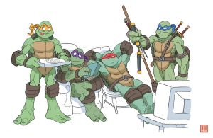 Teenage Mutant Ninja Turtles by MurderousAutomaton