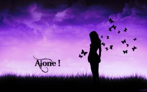 Alone.. by Pinky-ButterFly