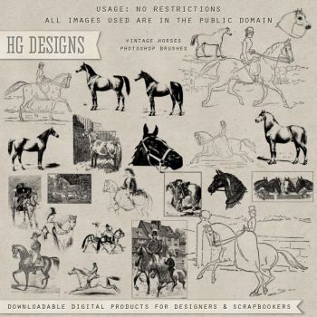 PS Brushes: Vintage Horses by HGGraphicDesigns