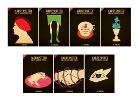 Harry Potter Book Covers by miisunderstood