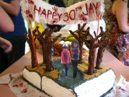The Walking Dead Game Birthday Cake by JGrayDingler