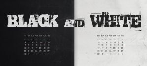 BLACK and WHITE Calendar RUS and ENG version by ilyaufo