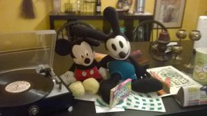 Mickey and Oswald with My Turntable by TheDisney1901atDA