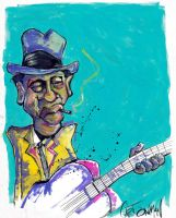 Yazoo bluesman by sketchoo