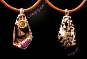 Citirine Dreamer Pendant by CosmicFolklore