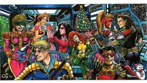 X-Force, X-Mas 1992 by olybear