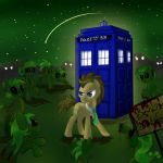 Doctor Whooves vs. Zombies by FriendlyRaccoon