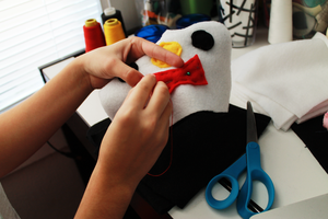 Penguin plush in the making! by CosmiCosmos