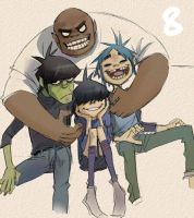 Gorillaz sketch by A-KAchen