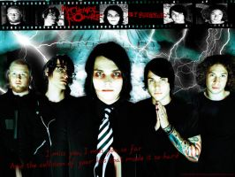 My Chemical Romance Wallpaper by linkinDarkShadow