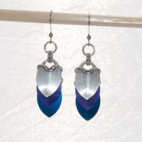 Winter Frost Scale Earrings by chef-chad