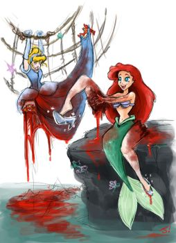 Dark Disney Princess - Ariel by jezzy