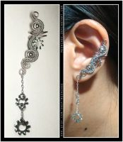 Lock Washer ear cuff by Meowchee