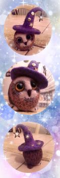 Felting. Owlet-astrologer by Deygira-Blood