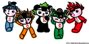 Chinese Olympic Mascots by Trinity630