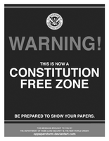 Warning! Constitution Free Zone by OpPaperStorm