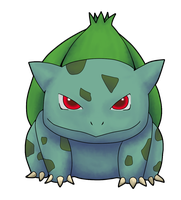 Bulbasaur's Devious Glare by AInfinity
