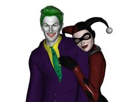 Joker and Harley 3D 1 by Zarnoth
