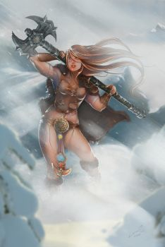 - BARBARIAN BEAUTY - Diablo 3 by laurasardinha