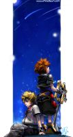 KingDom Hearts -Roxas and Sora by borammy