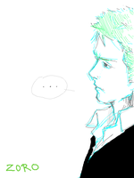 A serious Zoro by EdoMame