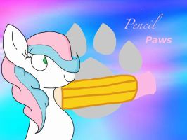 Mlp OC wallpaper pencil paws. *request* by steve10602