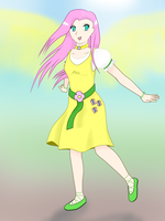 Fluttershy Human Version by drjhordan