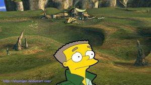 Waylon Smithers is lost by Alicetiger