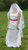 bride on a field - veil 1 by indeed-stock
